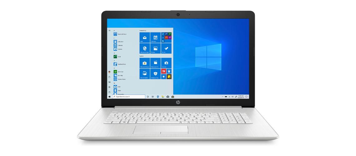Das Laptop mit 43,9 cm Diagonale und Intel Prozessor HP 17 by3263ng 17,3 Zoll Full HD i7 1065G7 512GB SSD Win 10 silver