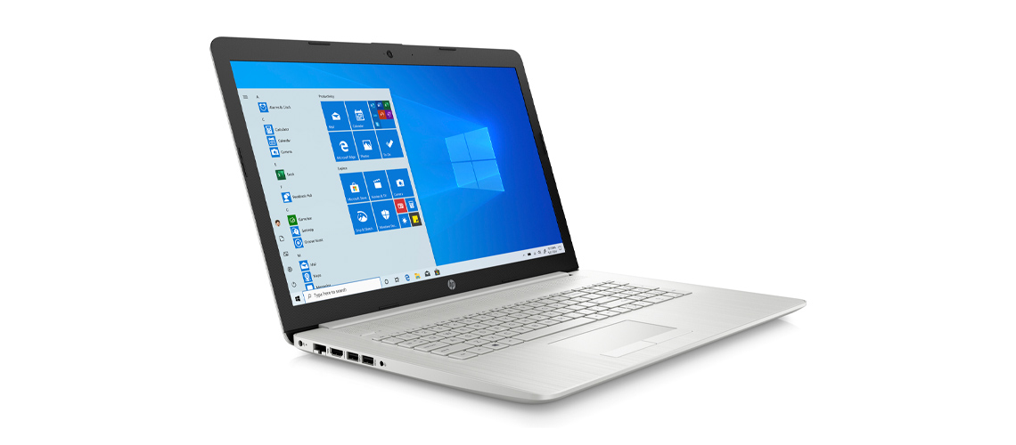 Konstruktion des Notebookes HP 17 by3263ng 17,3 Zoll Full HD i7 1065G7 512GB SSD Win 10 silver