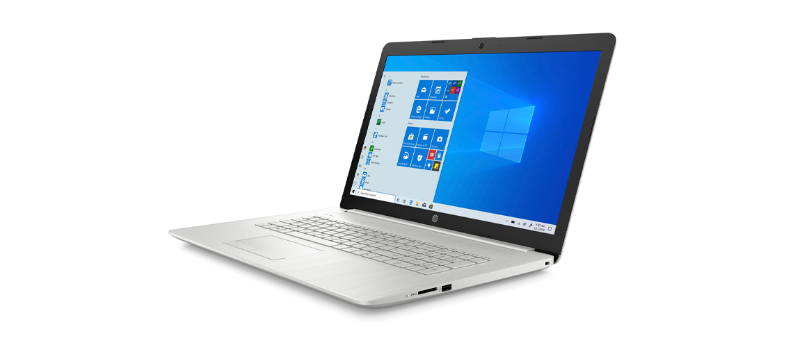 Display des Laptops HP 17 by3263ng 17,3 Zoll Full HD i7 1065G7 512GB SSD Win 10 silver