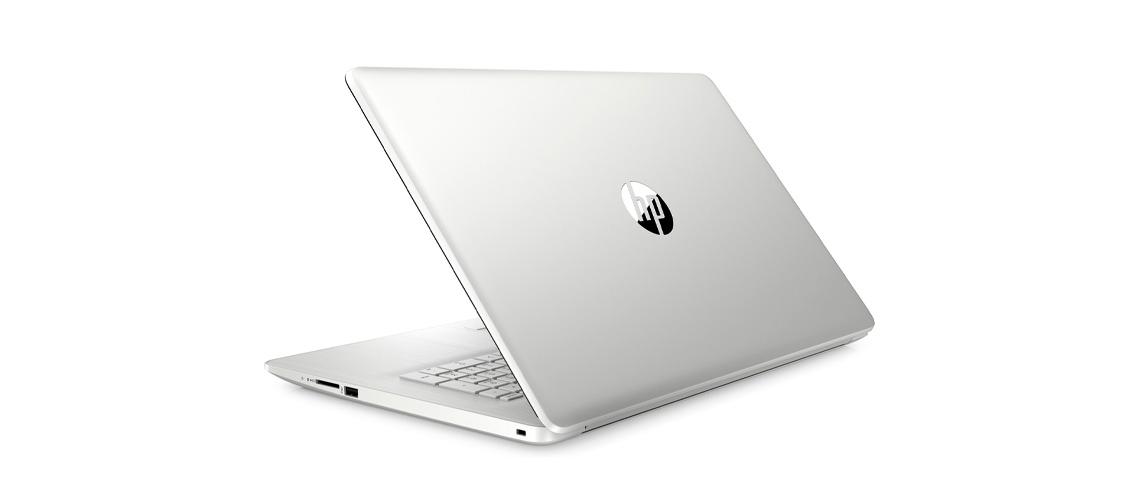 Das Laptop mit der Auflösung von 1920 x 1080 HP 17 by3263ng 17,3 Zoll Full HD i7 1065G7 512GB SSD Win 10 silver