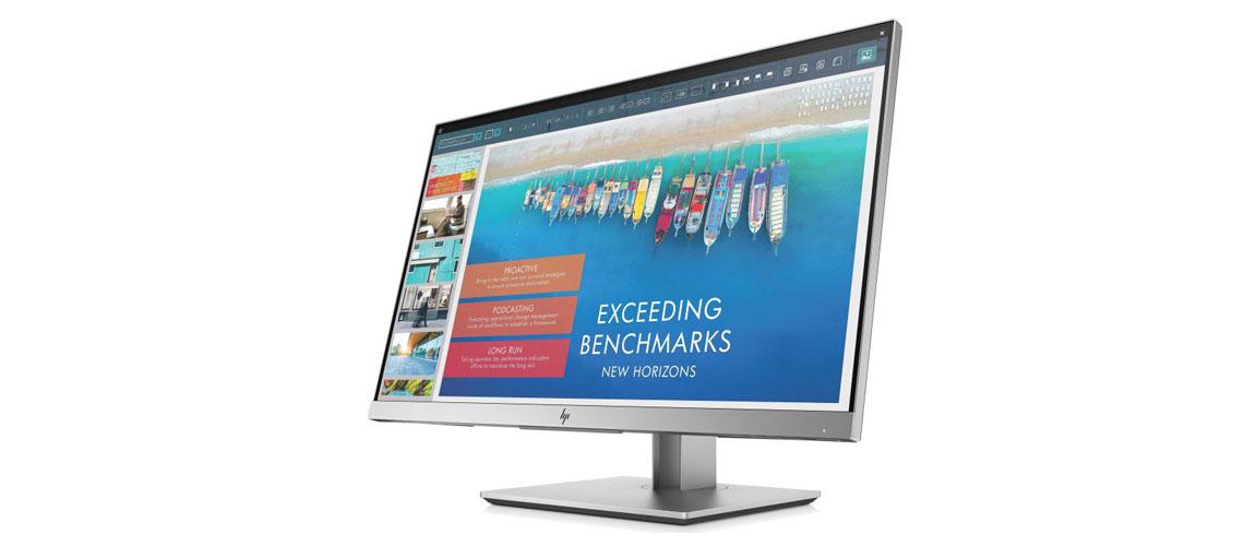 VGA HDMI und DisplayPort Anschlüsse mit dem Monitor HP EliteDisplay E243d 60,5 cm 23,8 Zoll TFT