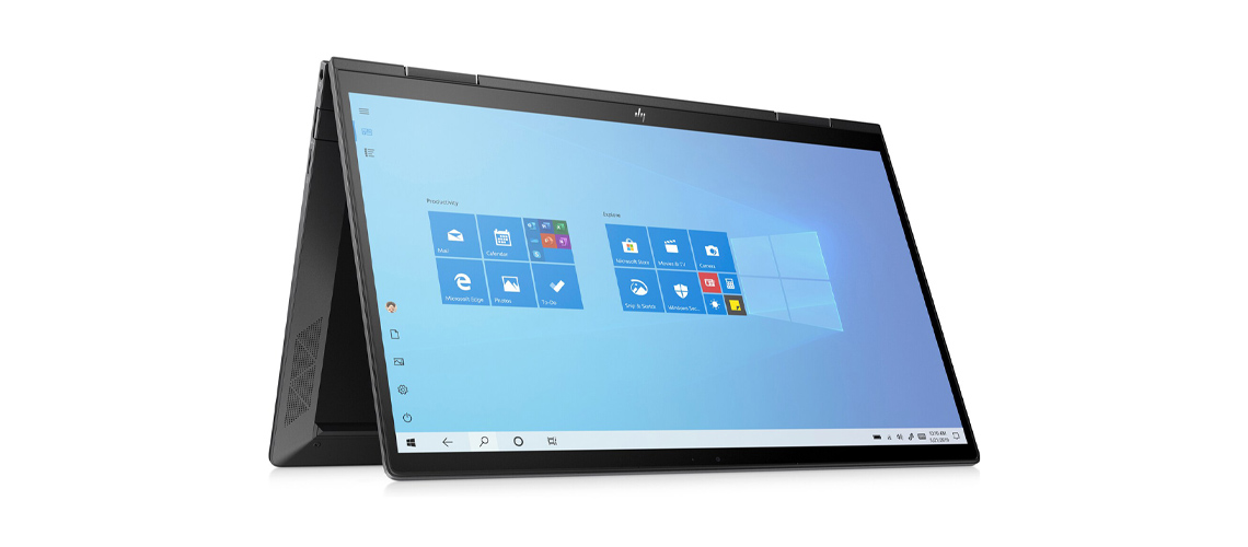 Das Notebook mit FHD Display und 360 Grad Scharnier HP Envy x360 13,3 Zoll Full HD Touch 4500U 8GB 1TB SSD Win 10 Home nightfall black
