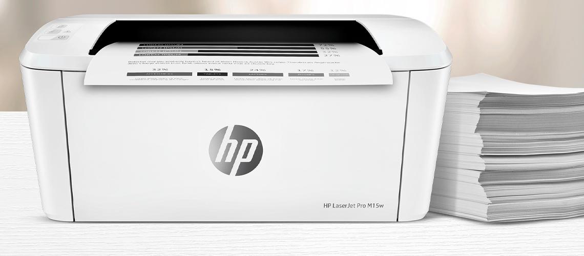 Drucken und Scannen über Smartphone mit dem Drucker HP LaserJet Pro M15w S W