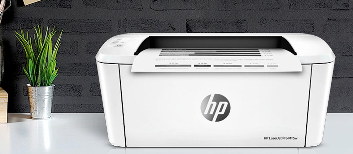 Der Drucker mit der HP Auto On/Auto Off Technologie LaserJet Pro M15w S/W