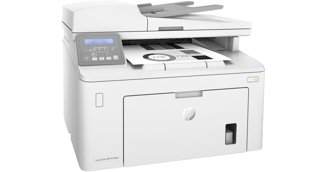 Der Drucker mit Belichtungstrommel über Reichweite von bis zu 23.000 Seiten HP LaserJet Pro MFP M148dw