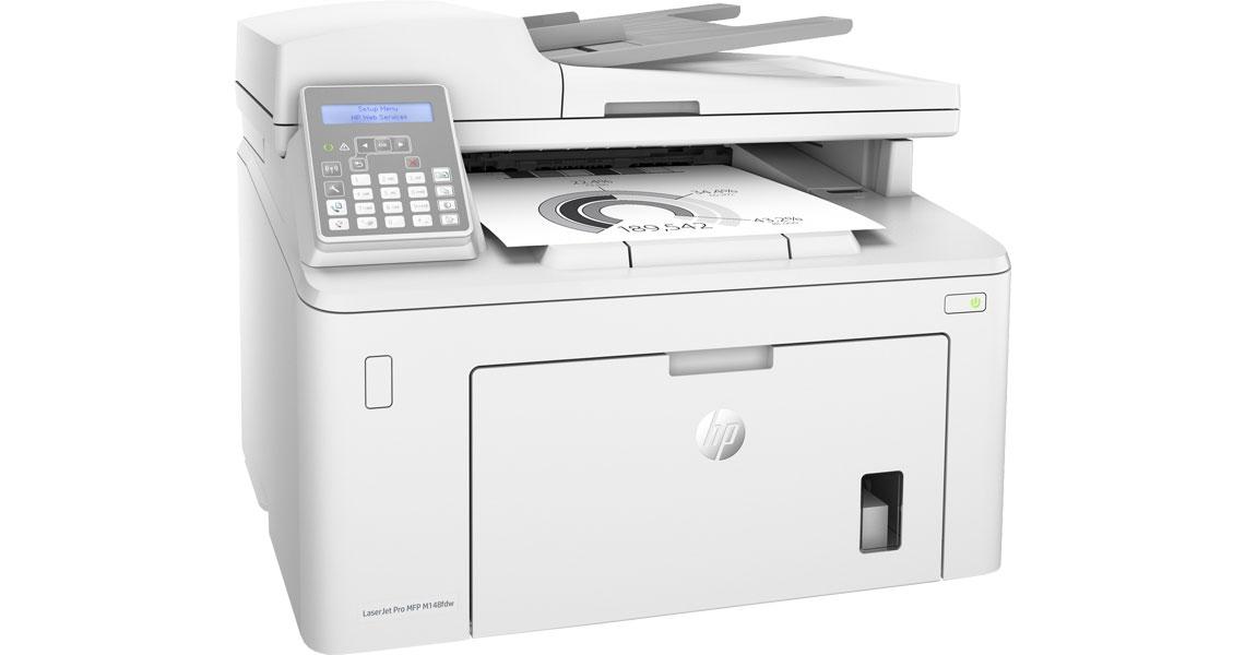Der Drucker mit der HP Auto On/Auto Off Technologie LaserJet Pro MFP M148fdw