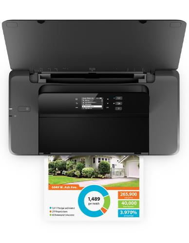 Drucken von Laptop oder mobilen Geräten HP OfficeJet 200 Mobile Tintenstrahldrucker Farbdrucker A4 4800x1200 dpi