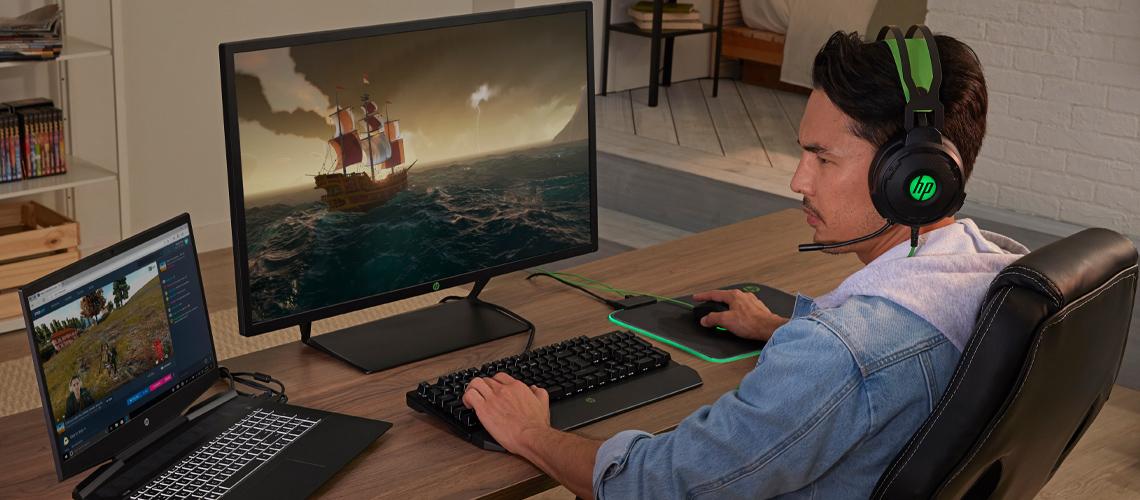 Die Tastatur mit LED Beleuchtung und abnehmbarer Handballenauflage für Gaming HP Pavilion Keyboard 800 DE Layout QWERTZ