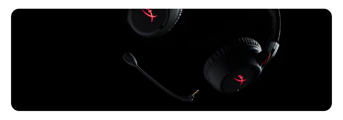 Mikrofon mit Rauschunterdrückung im Kopfhörer HYPERX Cloud Flight Gaming Headset