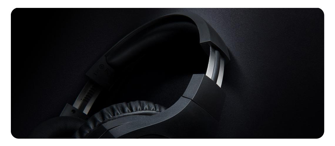 Regulierbarer Schiebemechanismus HYPERX Cloud Stinger Gaming Headset Schwarz