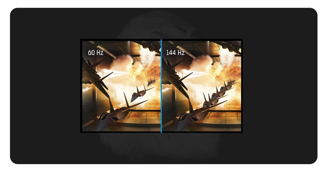 Der Monitor mit Bildwiederholfrequenz von 144Hz IIYAMA G Master GB2560HSU 62,2 cm 24,5 Zoll TFT