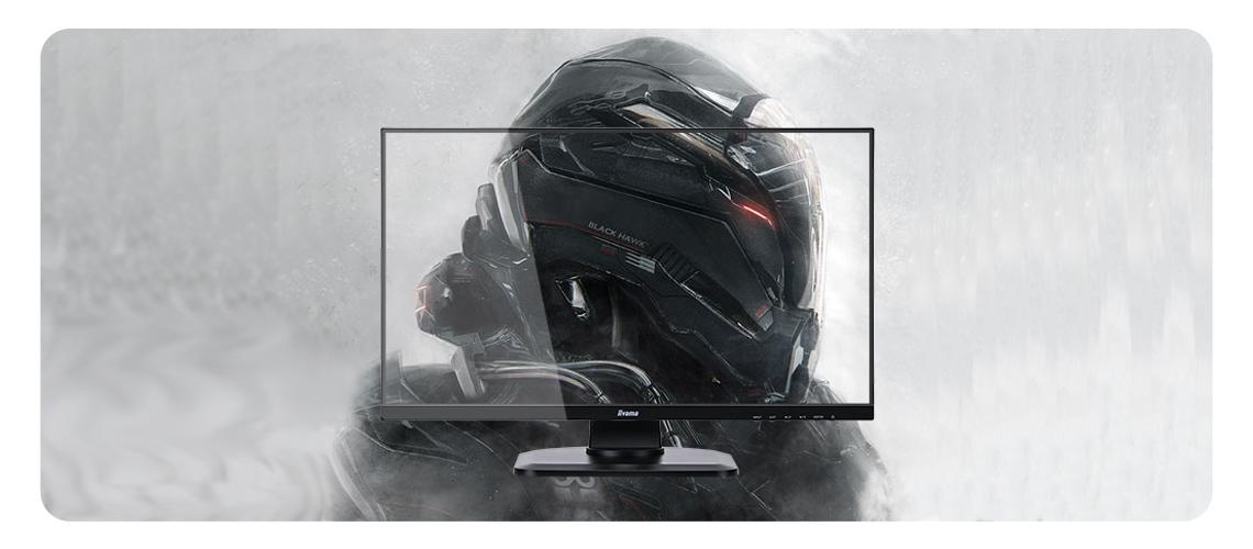Der Monitor mit Black Tuner Funktion FreeSync Technologie und Reaktionszeit von 1ms IIYAMA G Master GB2730HSU B1 Black Hawk 68,6 cm 27 Zoll TFT