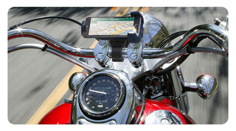 Drehkopf um 360 Grad KFZ Halter Smartphone Handyhalter Motorrad Bike
