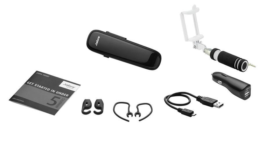 jabra boost schwarz mit auto ladeger t selfie stick 34 50. Black Bedroom Furniture Sets. Home Design Ideas