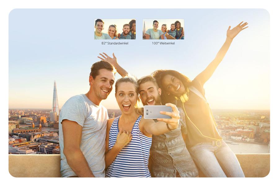 Weitwinkel-Selfie-Kamera