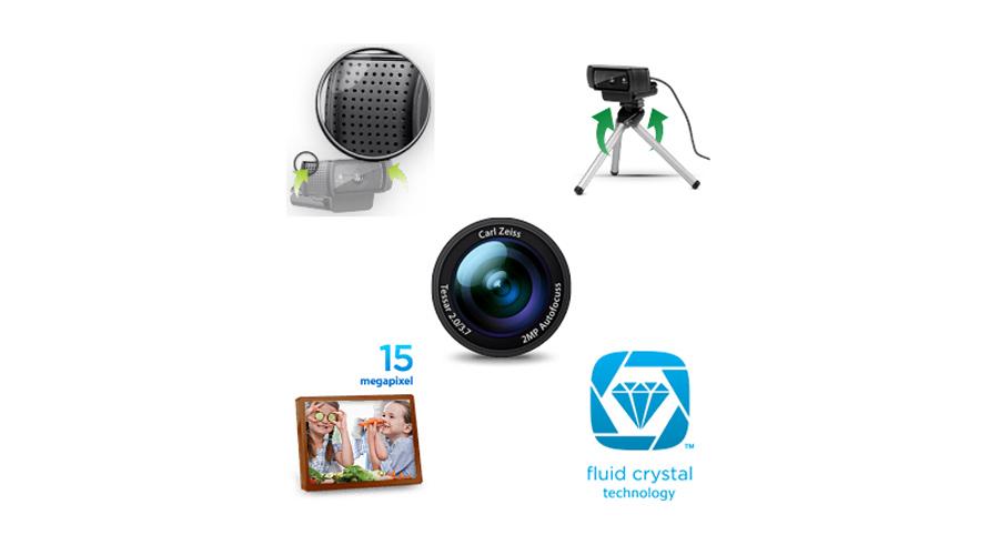 Die Kamera mit gummiertem Befestigungsclip LOGITECH C920 HD Pro Webcam