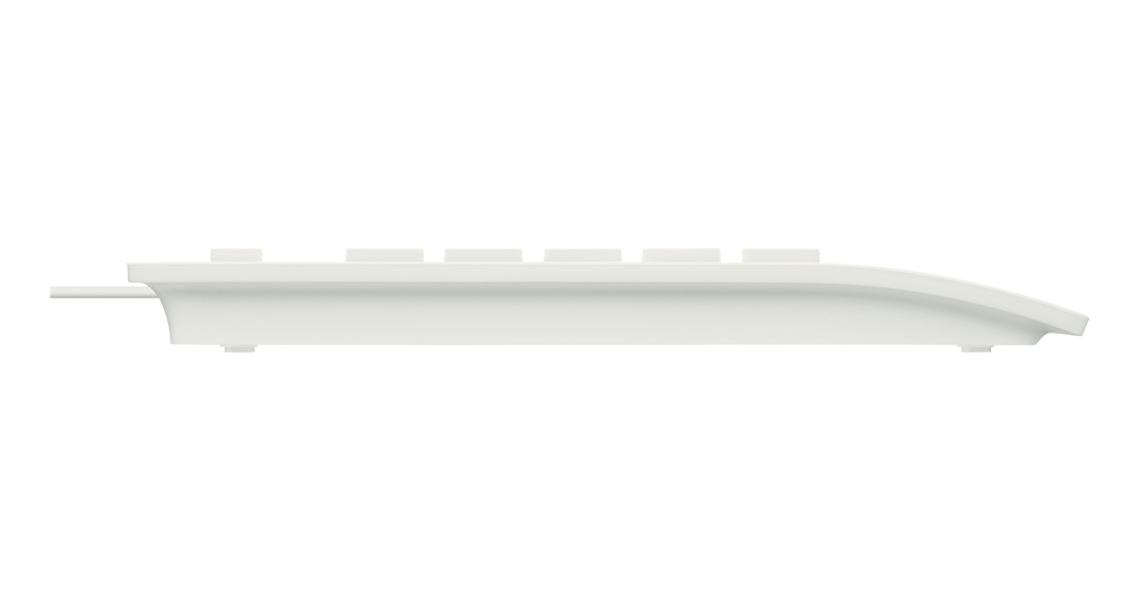 Das Profil der Tastatur LOGITECH K280e Corded Keyboard Weiss DE Layout QWERTZ