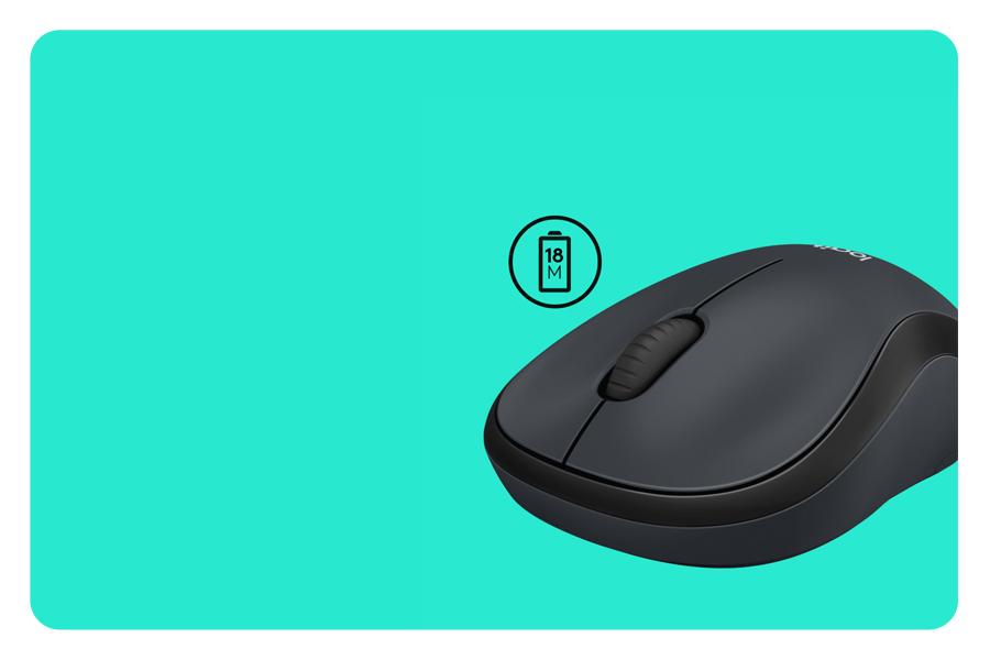 Die Maus mit 18 Monate Batterielebensdauer LOGITECH M220 Silent Wireless USB