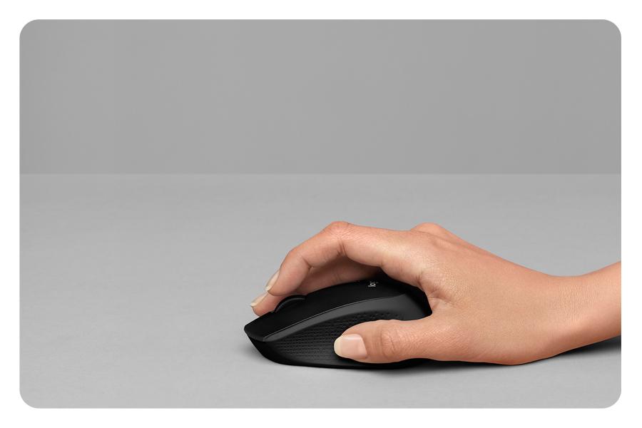 Die Maus mit Gummi Griffflächen LOGITECH M330 Silent Plus Wireless USB