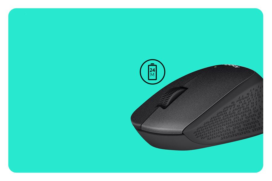 Die Maus mit 24 Monate Batterielebensdauer LOGITECH M330 Silent Plus Wireless USB