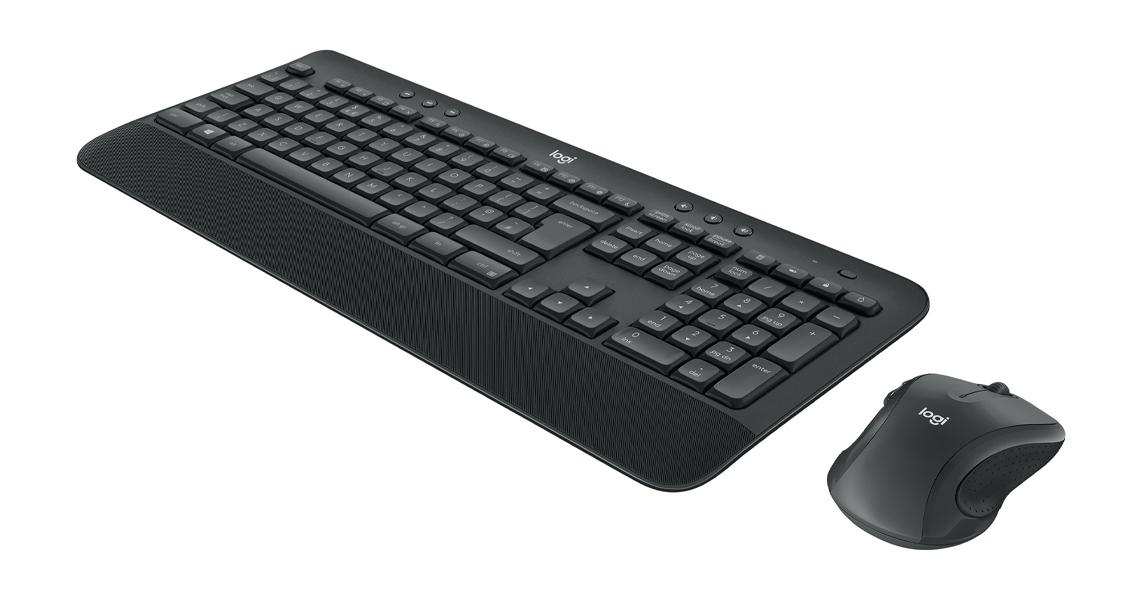 Kabellose Verbindung von bis zu 10 m mit dem Tastatur Maus Set LOGITECH MK545 Advanced Wireless Desktop DE Layout QWERTZ