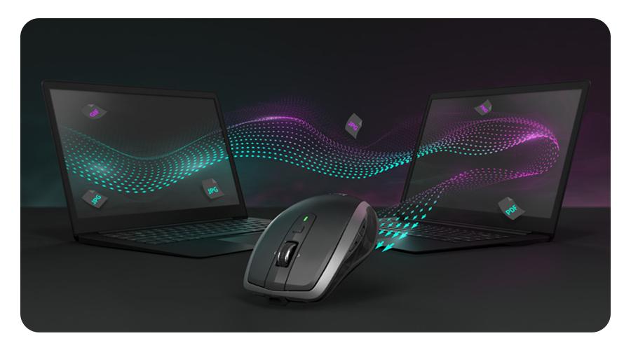Arbeiten auf mehrereren Computern mit der Maus Logitech MX Anywhere 2S