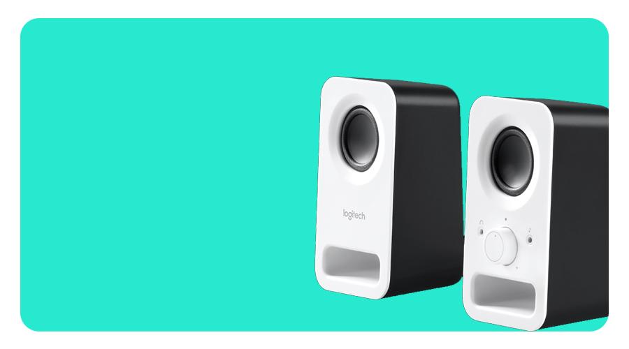 Stereo Sound mit Spitzenleistung 6 W im Lautsprecher LOGITECH Z150 PC weiss