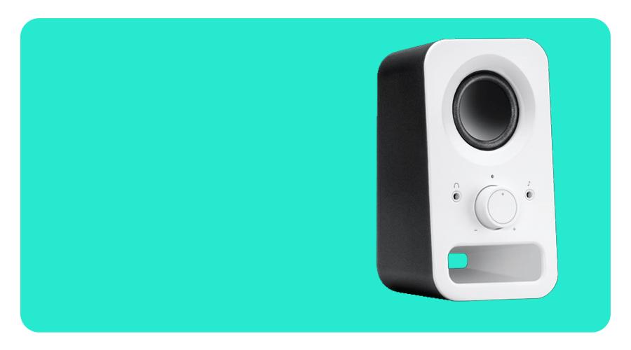 Lautsprecher mit Kopfhörerbuchse LOGITECH Z150 PC weiss