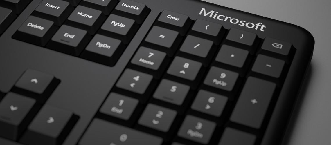 Die Tastatur mit ergonomischem Design Polster Handauflage MICROSOFT ERGONOMIC KEYBOARD LXM00006 SCHWARZ DE