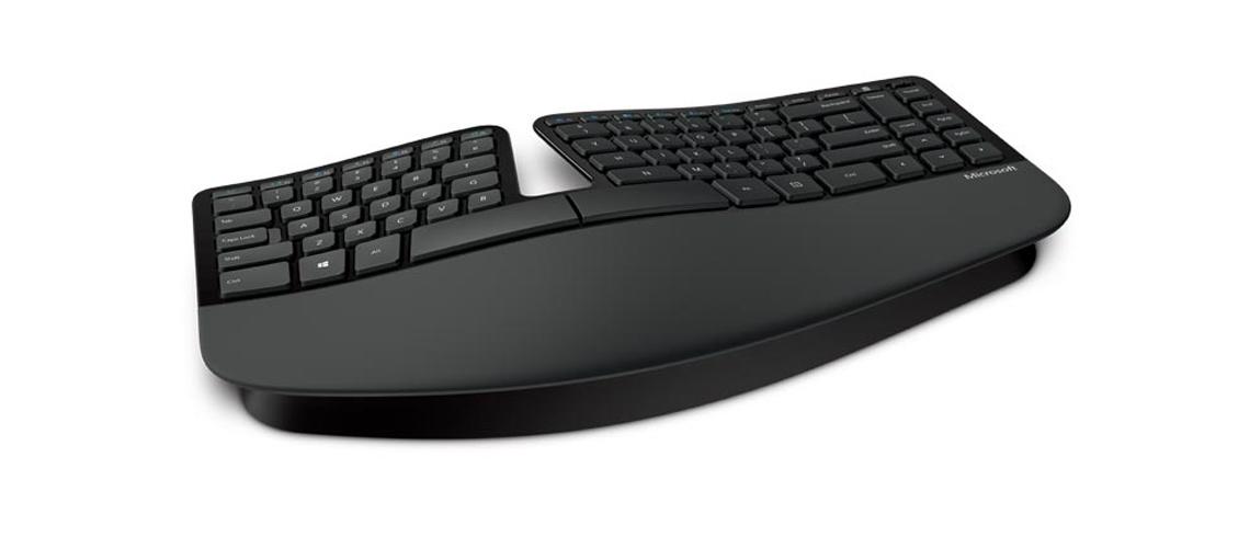 Ergonomisches Design der Tastatur MICROSOFT Sculpt Ergonomic Keyboard for Busines Layout DE QWERTZ