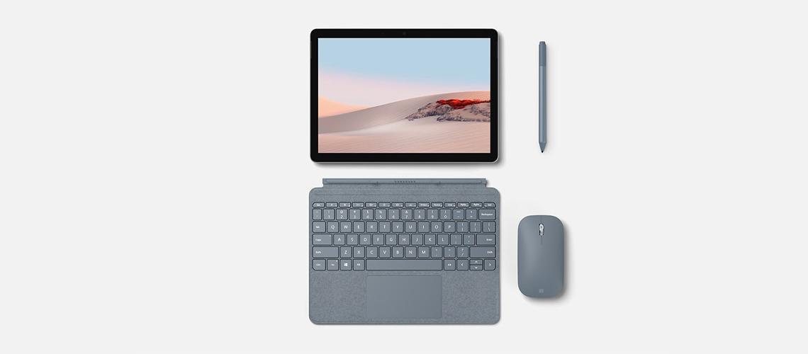 Die Tastatur mit Hintergrundbeleuchtung optimalen Abstand für schnelles Tippen und Glas Trackpad MICROSOFT SURFACE GO SIGNATURE KCM00005 SCHWARZ DE