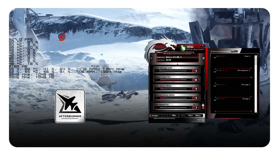Die Grafikkarte mit MSI Afterburner GeForce GTX 1050 Ti 4GT LP 4GB GDDR5