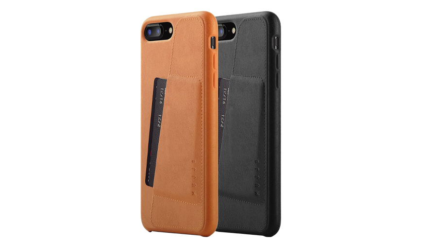 Mujjo Full Leather Wallet für iPhone 7/8