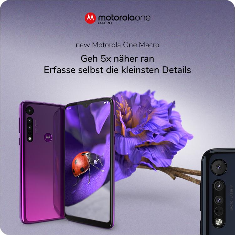 Handy Smartphone Motorola Moto Macro