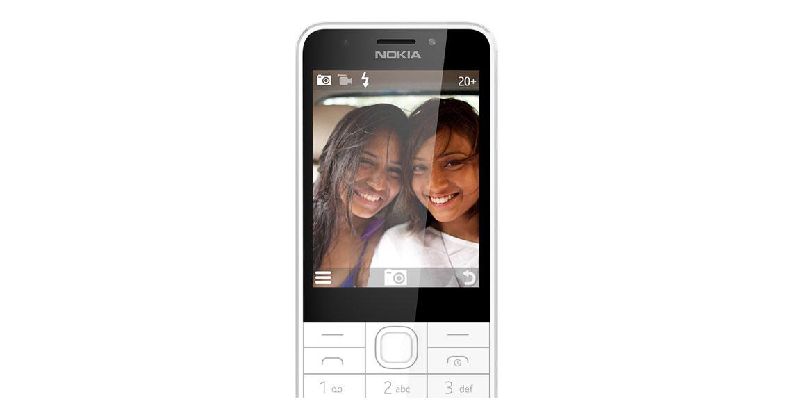 Das Smartphone mit 2 MP Kamera auf der Vorderseite NOKIA 230 EU