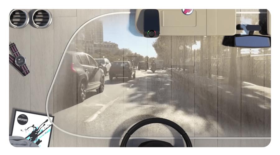 Tragbare Bluetooth-Freisprechanlage mit HD-Sprachsteuerung