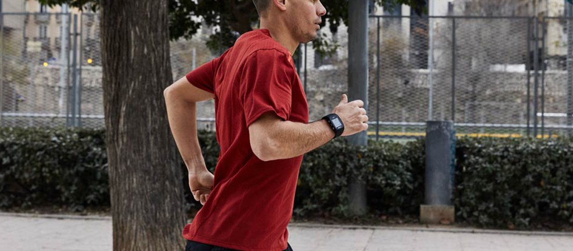 Fitness Test mit Pulsmessung am Handgelenk