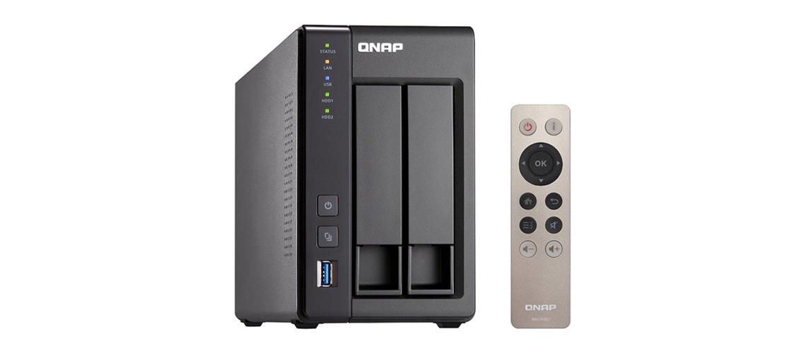 Intel Quad Core NAS mit HDMI Transkodierungsunterstützung und Virtualisierungsunterstützung QNAP TS 251 Celeron 2GB EXT4