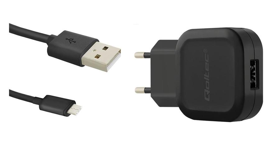 Netzladegerät mit 12W von Qoltec  Ladegerät USB-C USB Type-C