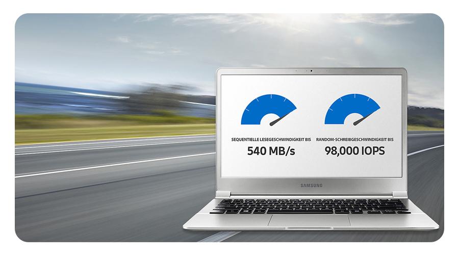 Samsung 850 Evo Lesen 540 MB/s Schreiben 520 MB/s
