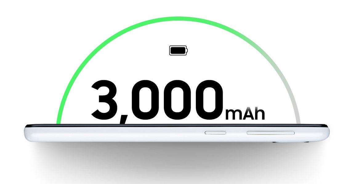 Akkukapazität von 3.000 mAh im Smartphone SAMSUNG Galaxy A20e 32GB Schwarz