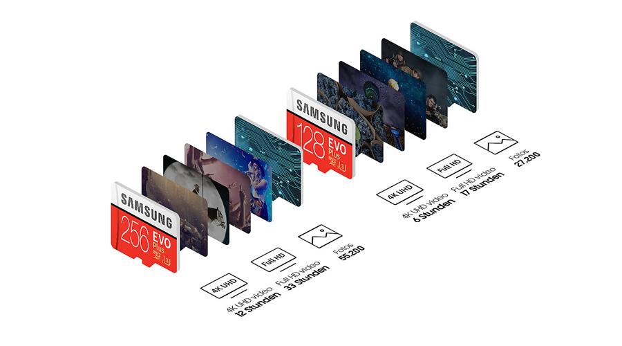 EVO Plus microSDXC 128 GB Karte