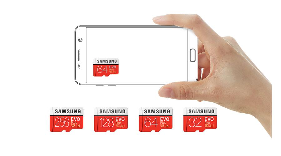 Kapazität Lese und Schreibgeschwindigkeit der Speicherkarte SAMSUNG Evo Plus microSDXC 64 GB MB MC64GA/EU