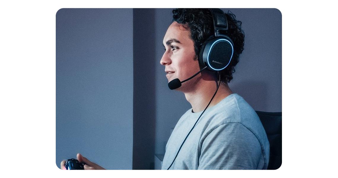 Mikrofon im Kopfhörer STEELSERIES Arctis Pro und GameDAC Gaming-Headset