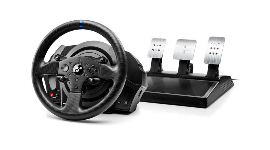 Das Lenkrad mit Doppelgurt System THRUSTMASTER T300 RS GT Edition PC PS