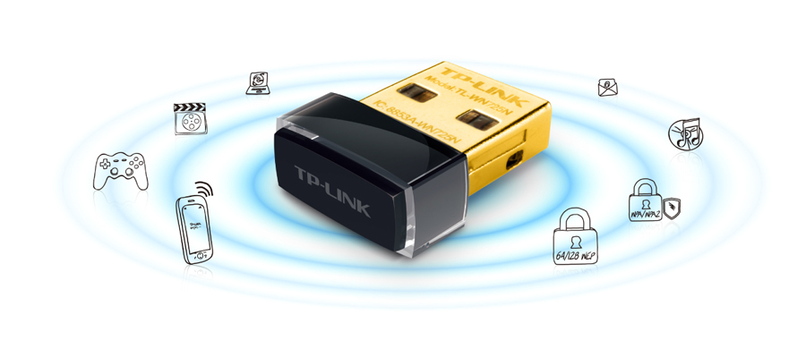 150 Mbit/s WLAN Geschwindigkeit mit dem Adapter TP Link Nano USB TL WN725N v2.1 / v2.2