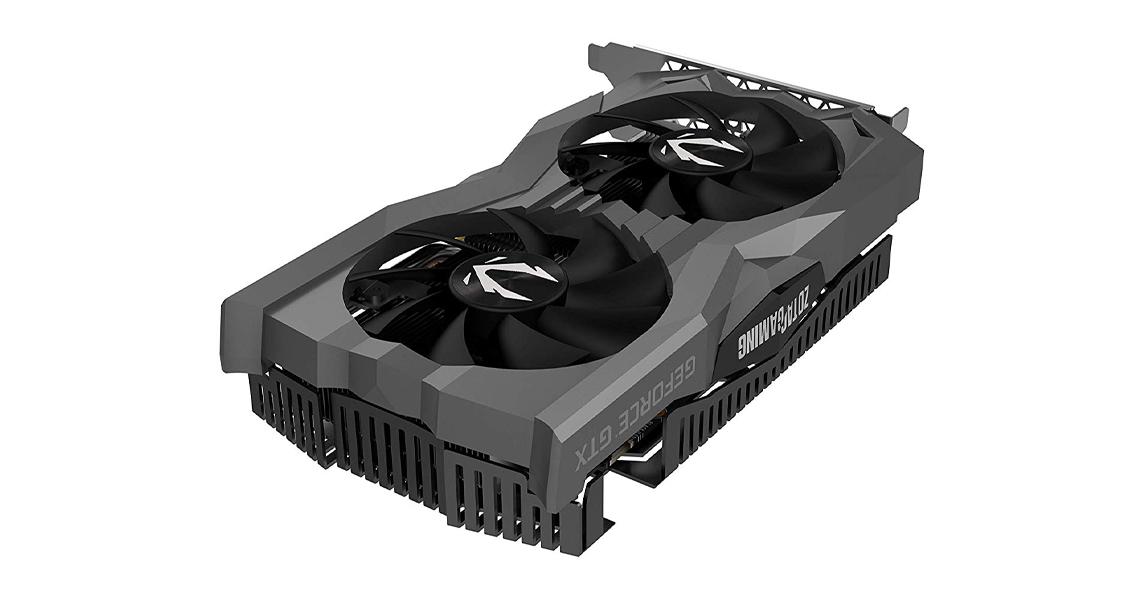 Die Grafikkarte mit GDDR6-Speicher ZOTAC GeForce GTX 1660 TI AMP EDITION ZT-T16610D-10M
